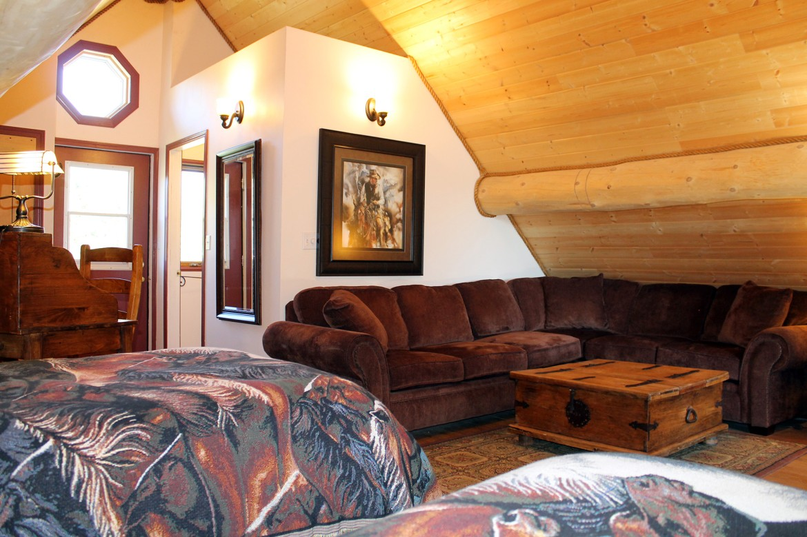 "Authentic ranch accommodations in the ""Cariboo"" Barn Loft Suite"