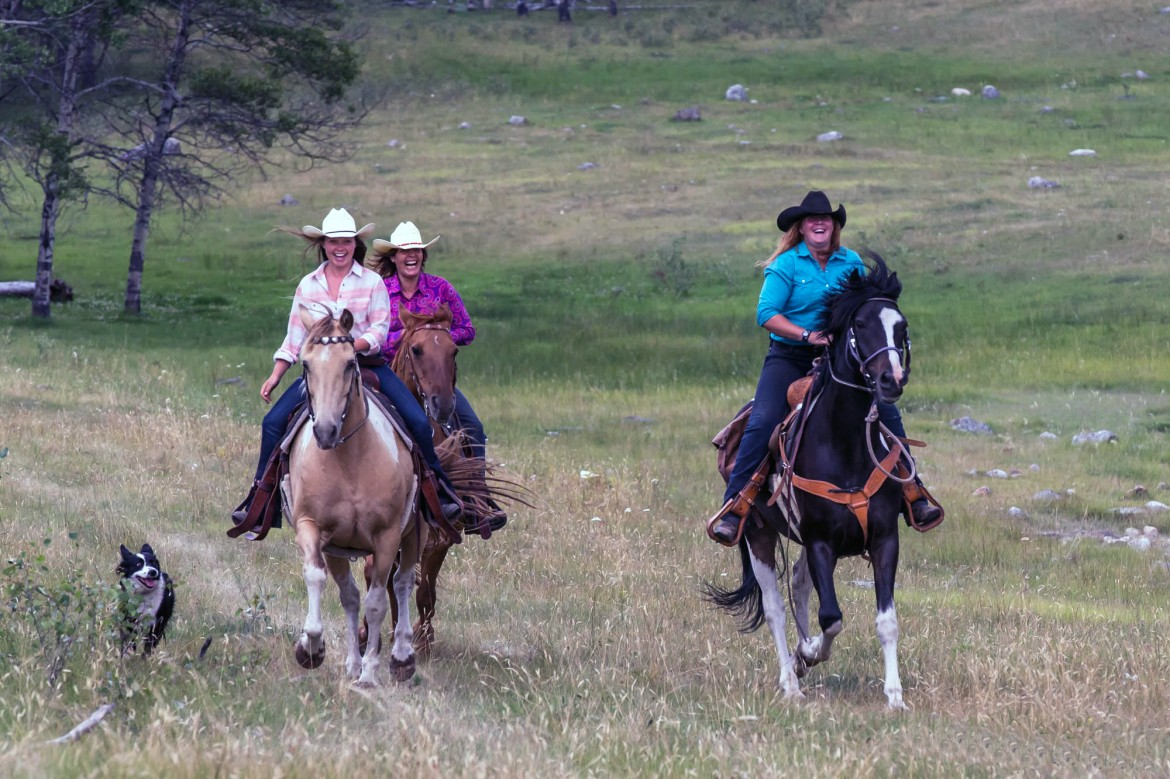 Experience exhilarating canters while horseback riding at Siwash Lake Wilderness Resort..