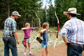 Archery is popular with all ages at Siwash Lake
