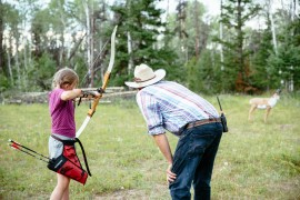 Channel your inner Katniss Everdeen when learning Archery at Siwash Lake