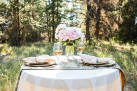 Dine alfresco in the great outdoors at Siwash Lake