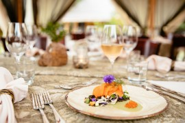 Fine dining amid Nature at Siwash Lake