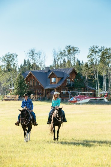 Horseback riding at Siwash Lake Wilderness Resort