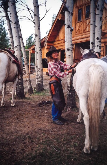 Learning to saddle up - luxury equine experience at Siwash Lake Wilderness resort
