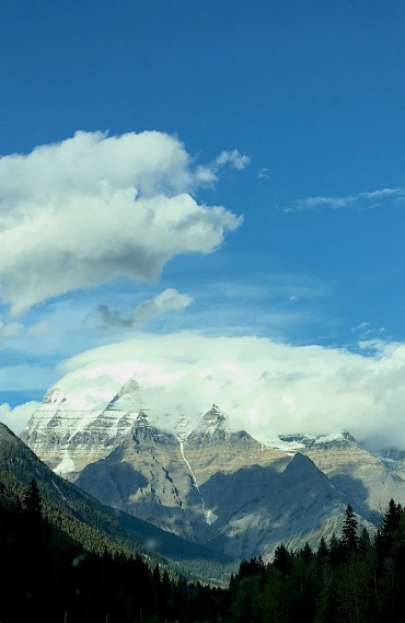 Mount Robson during the Rocky Mountain High Safari