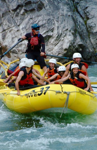 Try classic whitewater river rafting during your stay at Siwash!