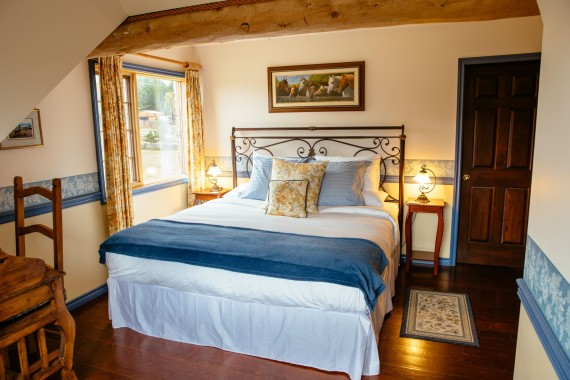The 'Frontier' main Ranch House suite - master bedroom, Siwash Lake Wilderness Resort