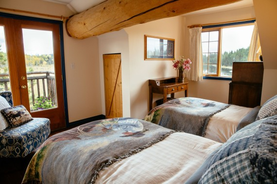 The 'Siwash' main Ranch House suite - adjoining Meadow Vista room, Siwash Lake Wilderness Resort