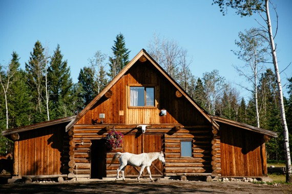 An authentic barn loft, the Cariboo Suite