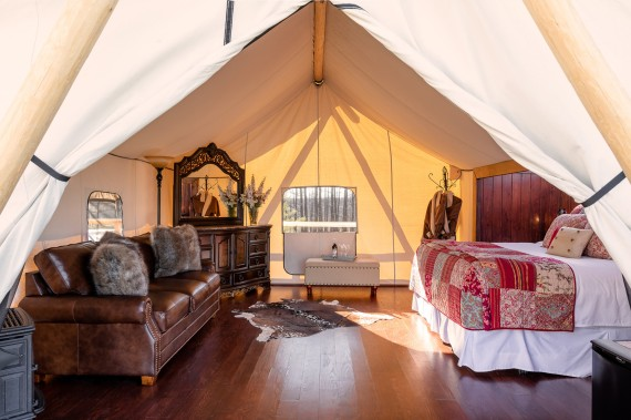 Glamping in style at Siwash Lake Star Camp