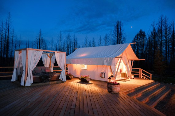 The best glamping in BC is at the Siwash Star Camp!