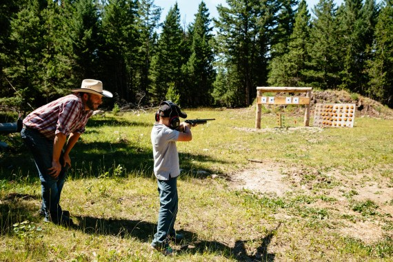 Learn to shoot a .22 calibre rifle during the Marksmanship program at Siwash Lake