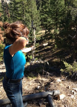 The 3D Cross-Terrain Archery program at Siwash Lake is tons of fun for everyone