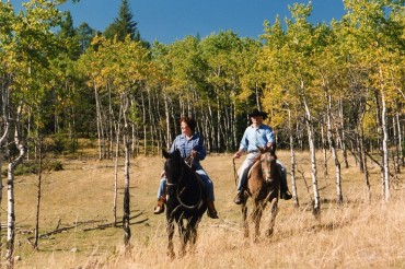 Riding the range together at Siwash Lake Wilderness Resort