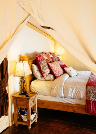 Luxury 'Glamping' tent at Siwash Lake Wilderness Resort