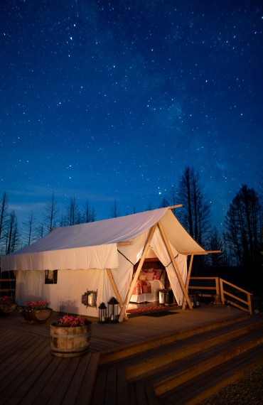 Glamping in luxury tents with world-class star gazing at Siwash Star Camp