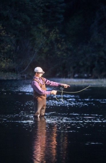 Fly Fishing during the Siwash River Outpost Safari