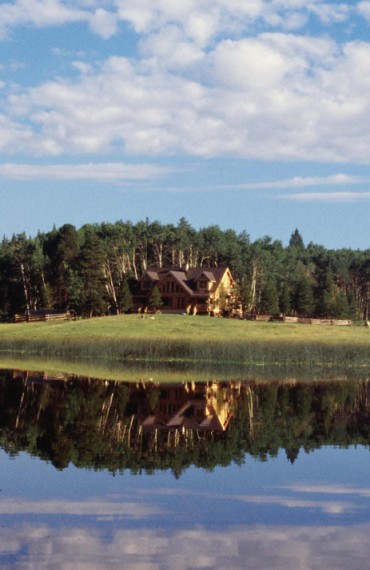 The Lodge at Siwash Lake, Circa 1998. Wildfire transformed the landscape in 2017.
