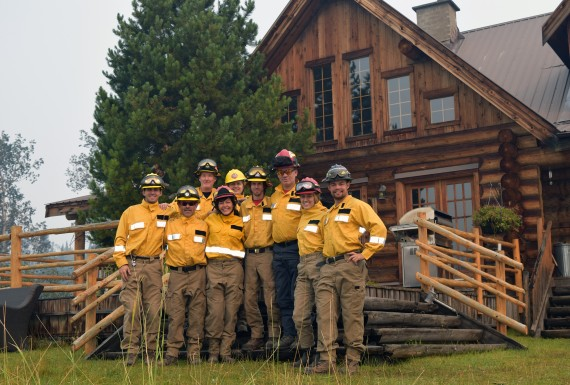 The team who put their lives on the line to stay and fight: they saved Siwash from a severe Rank 6 wildfire with zero help from government agencies