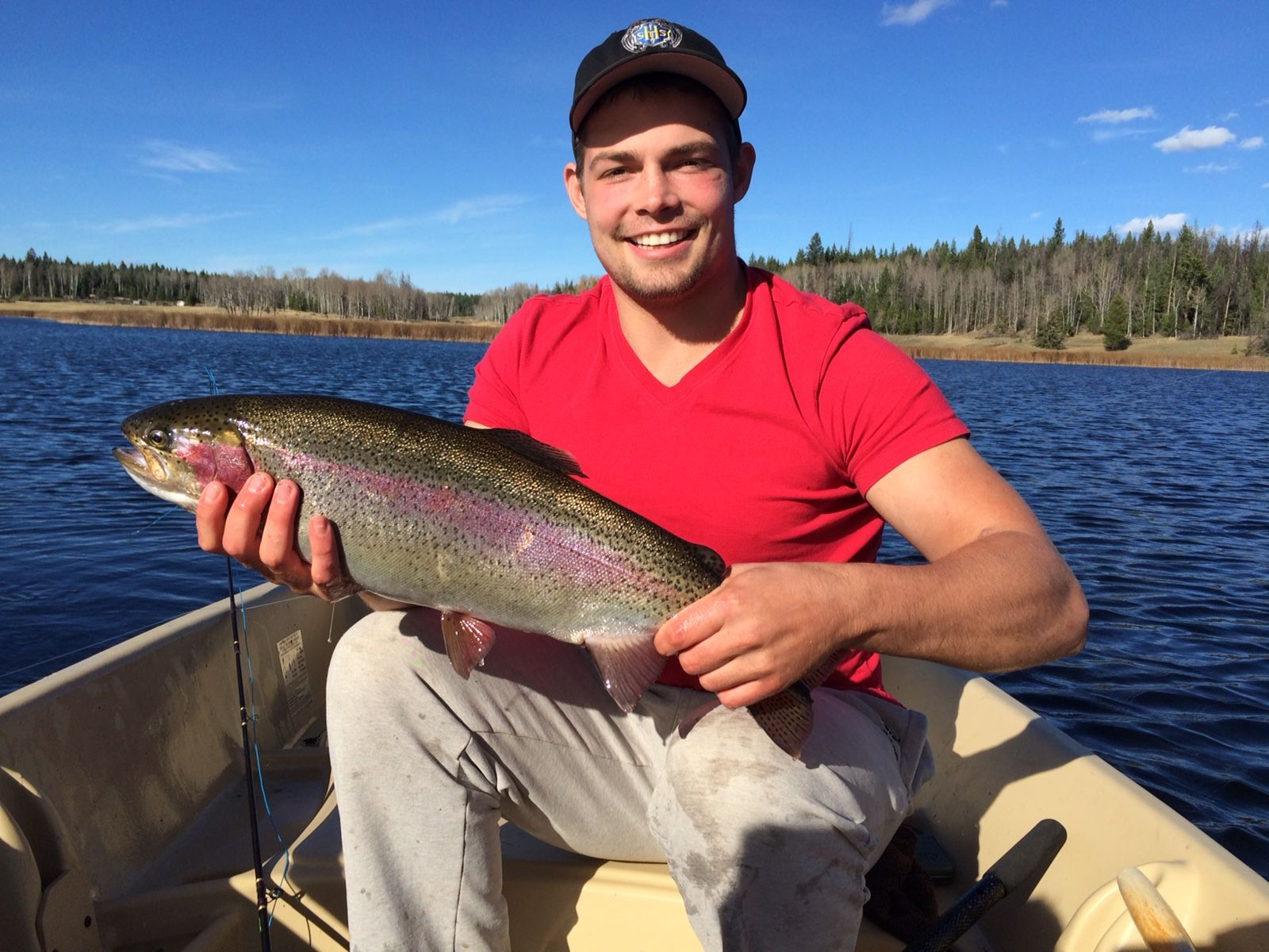 Rainbow Trout caught on Siwash Lake